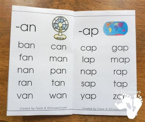 cvc word family wall cards  images cvc words