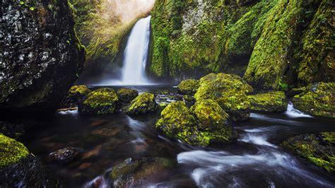 Hd Anime Landscape Wallpaper Wallpaper Waterfall Moss Green Hd 4k Nature 1937