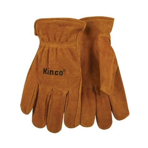 Split Cowhide Leather by Kinco Unlined Split Cowhide Leather Driver Glove Large 50 L