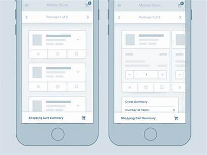 Wireframe Ux Ui Examples Checkout Mobile Flow