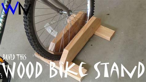 build  wood bike stand youtube