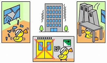 Earthquake Clipart Cartoon Prepared Elevator Japan Quake