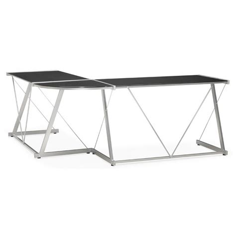 bureau angle en verre bureau d 39 angle en verre quot lize quot noir