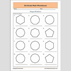 5th Grade Geometry Math Worksheets  Polygons  Fifth Grade Worksheets  Math Worksheets, Math