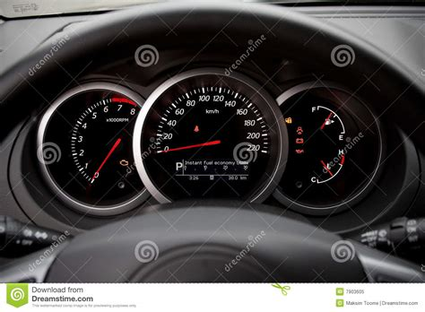 Modern Car Dashboard Royalty Free Stock Photo