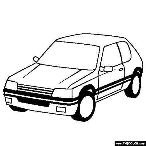 Kleurplaat Golf Gti by Coloring Pages Starting With The Letter P Page 4