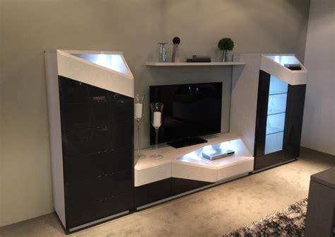 acheter votre meuble tv led laque et bois contemporain