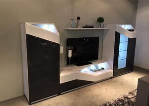 Meuble Avec Vitrine : acheter votre meuble tv contemporain avec led chene laque bois chez simeuble ~ Teatrodelosmanantiales.com Idées de Décoration