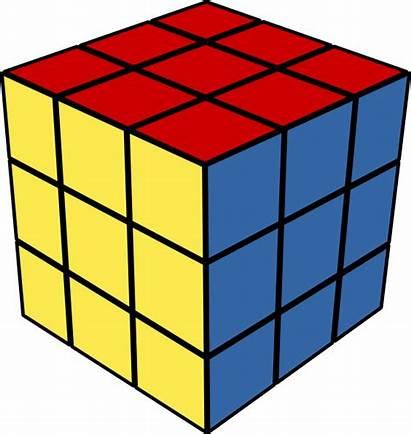 Cube Clip Rubik Rubic Clipart Clker Svg