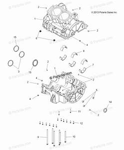 Polaris Atv 2018 Oem Parts Diagram For Engine  Crankcase
