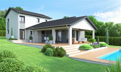 modele de maison plain pied moderne modele maison contemporaine ventana