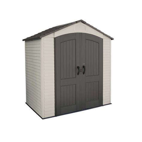 outdoor sheds home depot outdoor poly plastic storage shed 4 1 2 x 7 the home