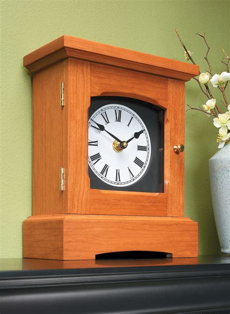 classic mantel clock woodworking project woodsmith plans