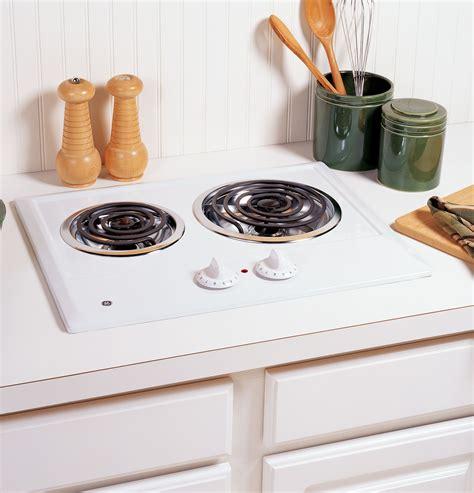jpdww ge  burner electric cooktop white
