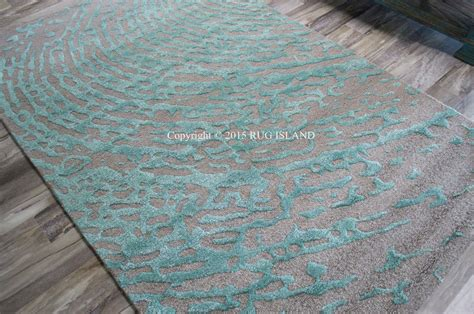 teal grey rug 9x12 designer modern contemporary turquoise aqua teal gray