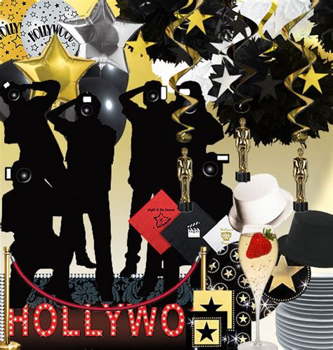 hollywood party theme decorations ideas invitations