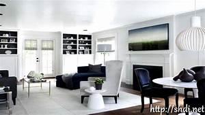 Black And White Living Room Decor Ideas - YouTube
