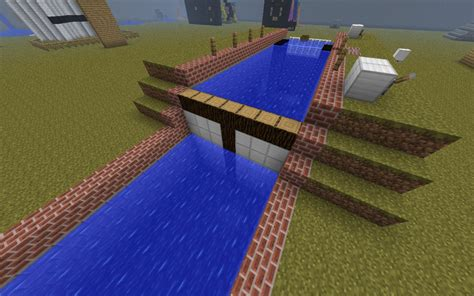 Minecraft Boat Canal by Minecraft Boat Lock Minecraft Project
