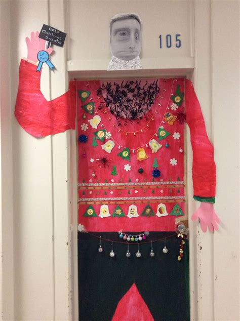 ugly christmas sweater door decoration ideas