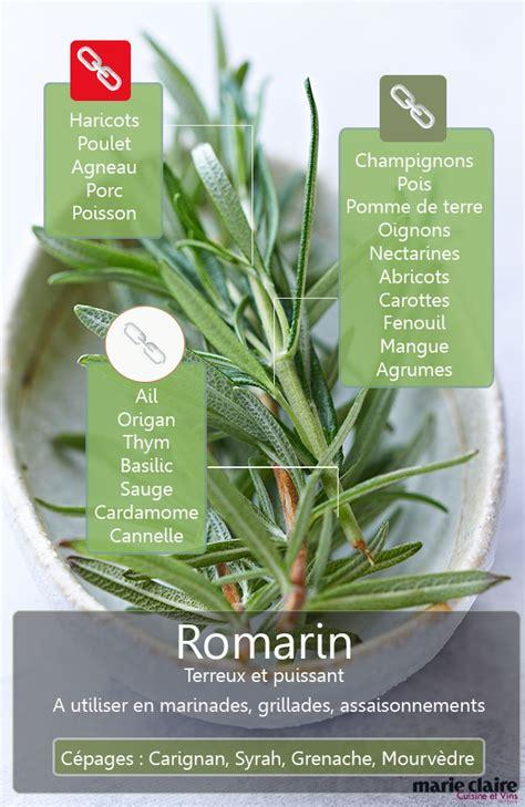 comment utiliser le romarin en cuisine cuisine et vins