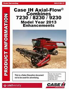 Case 30 Series Flagship Axial Flow Combine Training Manual Pdf