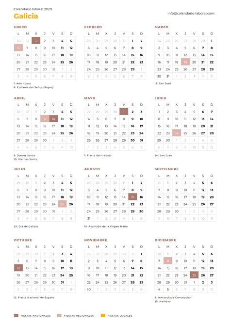 calendario laboral galicia calendario laboral