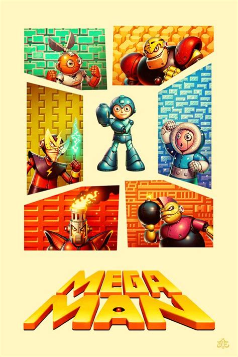 Mega Man Retro Posters And Poster On Pinterest