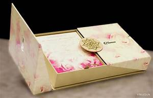 Luxury wedding cards customized wedding invitations delhi for Wedding invitation boxes online india