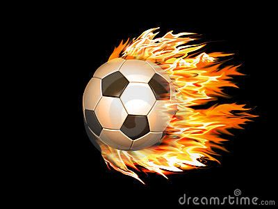 soccer ball  fire royalty  stock  image
