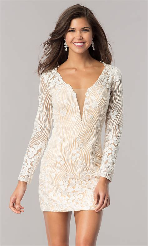 Short Longsleeve Ivory Beaded Party Dress  Promgirl. Black And White Wedding Dress Don't Tell The Bride. Wedding Guest Dresses 50 Plus. Vera Wang Wedding Dresses 2015. Tea Length Wedding Dresses For The Mature Bride. Wedding Dress Short Sale. Summer Wedding Dresses Pakistani. Wedding Dresses With Big Bows On The Back. Big Wedding Dresses London
