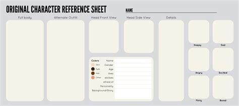Oc Template Oc Sheet Template By Zippora Character Design