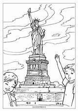 Sydney Opera Coloring Statue Liberty Pages Colouring Getcolorings sketch template