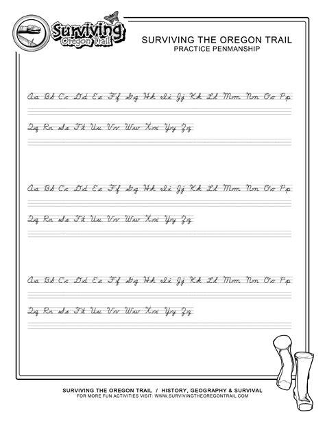 handwriting worksheets small print practice penmanship free abc s printable cursive writing