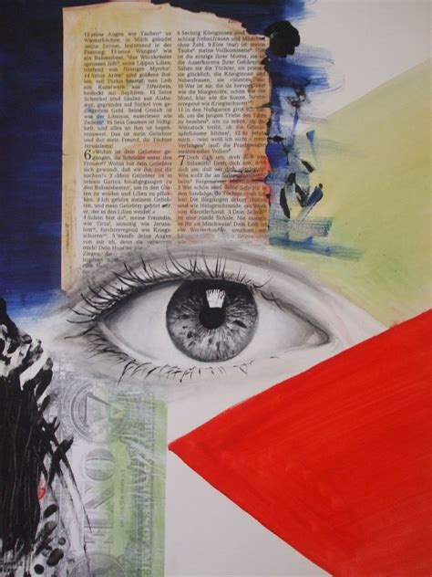 wir augen collage combine painting rot von danibo bei