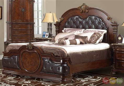 Unity Cherry Traditional Cherry Upholstered Bedroom Set