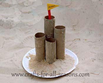 craft for sand castle made with paper towel and 876 | 98038edb7a6a5175e3148aedcda4df46