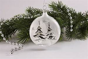 Weihnachtskugeln Aus Lauscha : 1 taler ca 7cm x 1 5cm eisweis silberne landschaft ~ Orissabook.com Haus und Dekorationen