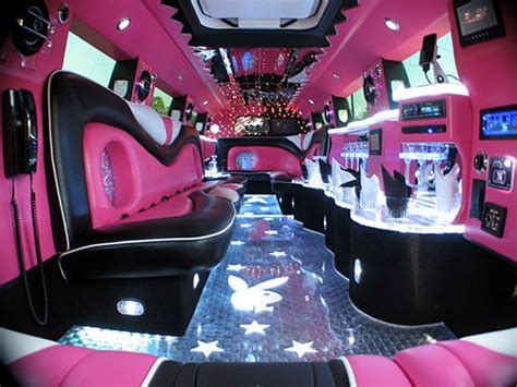 amazing pink hummer inside the pink limo wow mariage