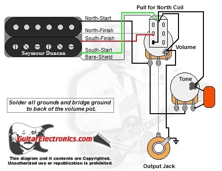 Humbucker Volume Tone Pull For North Single Coil