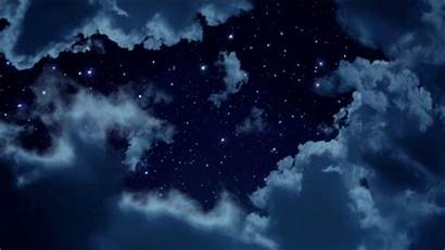Anime Scenery Aesthetic Night Gifs Background Skies