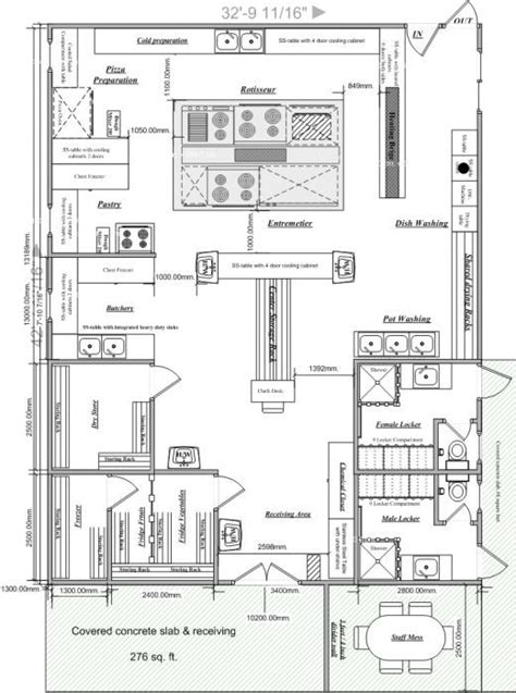 cafe kitchen floor plan blueprints of restaurant kitchen designs restaurant 5086