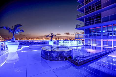stunning miami beach penthouses  pool architecture