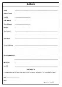 resume or biodata pdf application letter biodata format