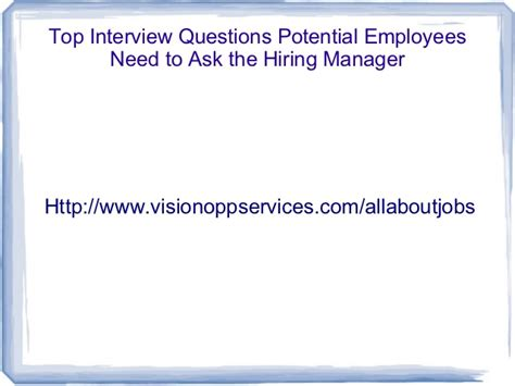 Ask A Hiring Manager Resume by Top Questions Potential Employees Need To Ask The Hiring Ma