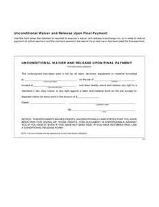 Unconditional Lien Waiver Release Form