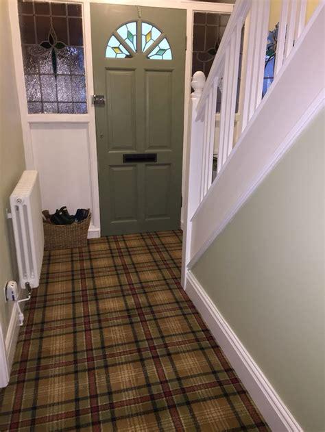 tartan carpet   hall stairs  landing