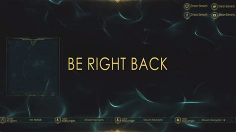 Twitch Be Right Back Screen Template How To by Superthemes Are Twitch Game Changers Streamelements