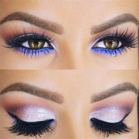 silver eye makeup  brown eyes mugeek vidalondon