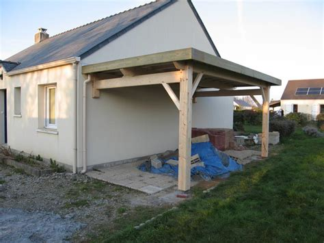 maison en bois calvados pr 233 au auvent carport constructions bois abri la romagne