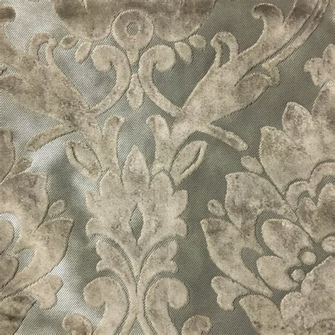 Velvet Fabric For Upholstery by Radcliffe Damask Pattern Lurex Burnout Velvet Upholstery